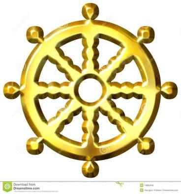 3d-golden-buddhism-symbol-wheel-dharma-14885443